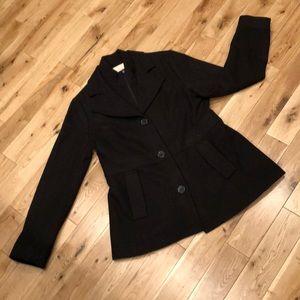 COVINGTON OUTTERWARE Black Pea Coat